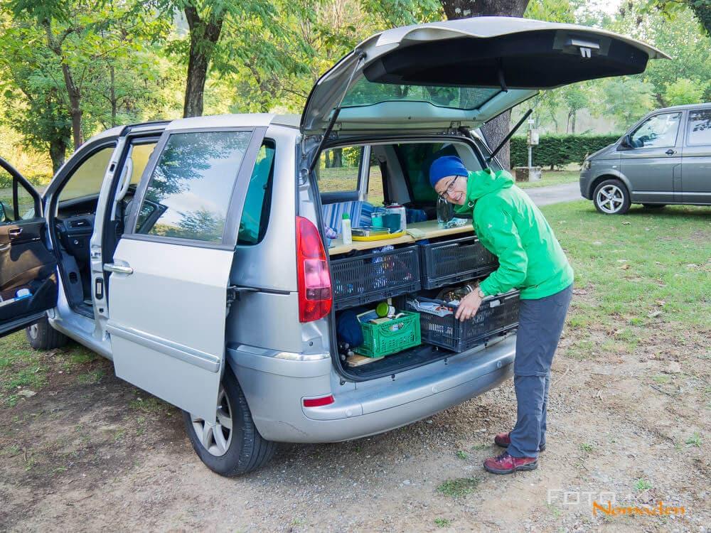 Der kleine selbst ausgebaute Micro-Camper