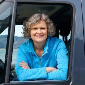 Angelika ist die Freiraumfrau und fährt einen Ford Nugget