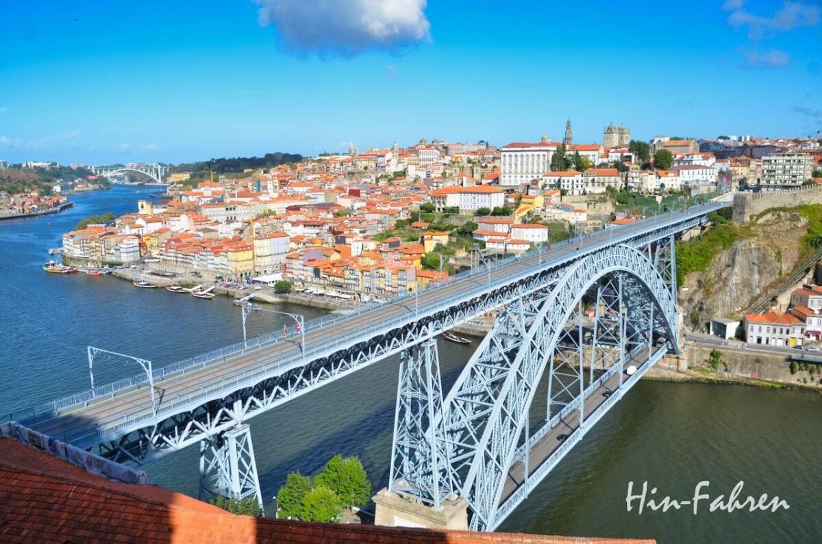 Blick auf die Innenstadt von Porto