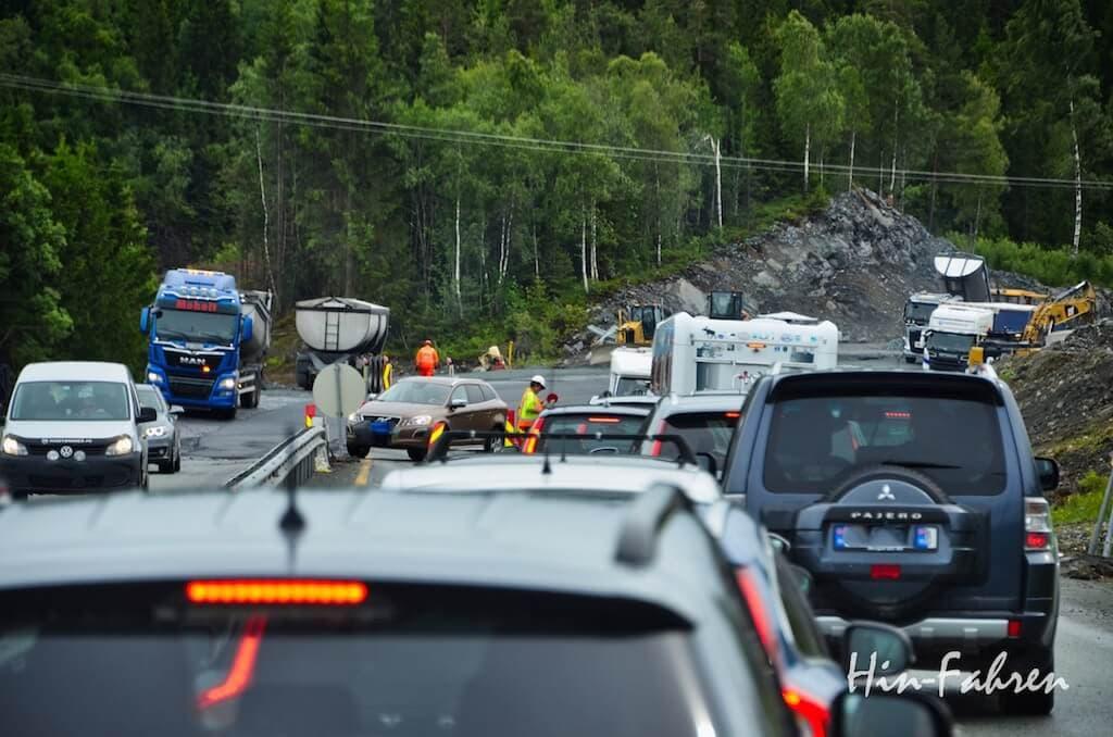 Baustelle in Norwegen