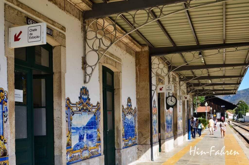Azulejos im Bahnhof in Pinhao