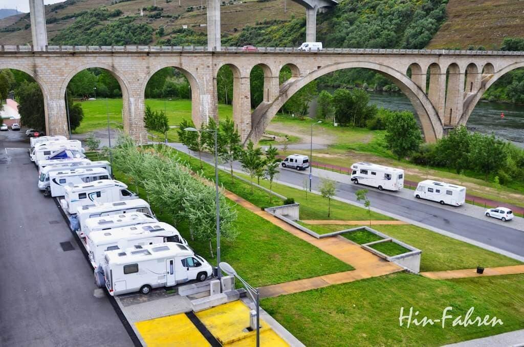 Wohnmobilstellplatz in Portugal in Peso da Regua