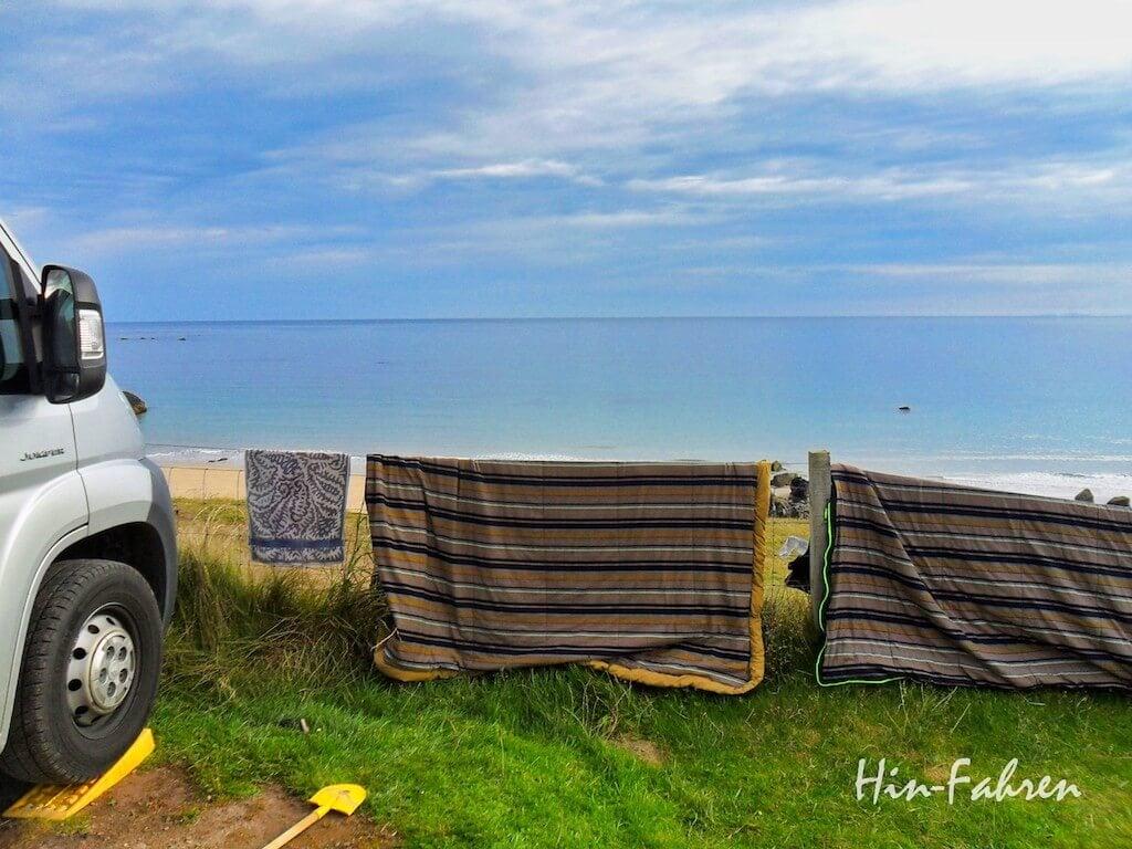 Auf dem Campingplatz im Urlaub mit Wohnmobil in Schottland