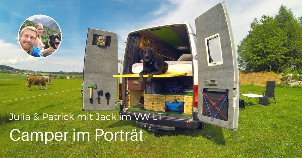Jack auf Reisen im Kastenwagen VW LT