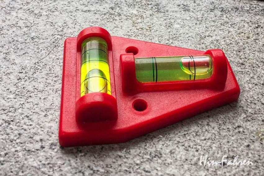 Kleine Wasserwaage, ideal für den Einsatz im Wohnmobil
