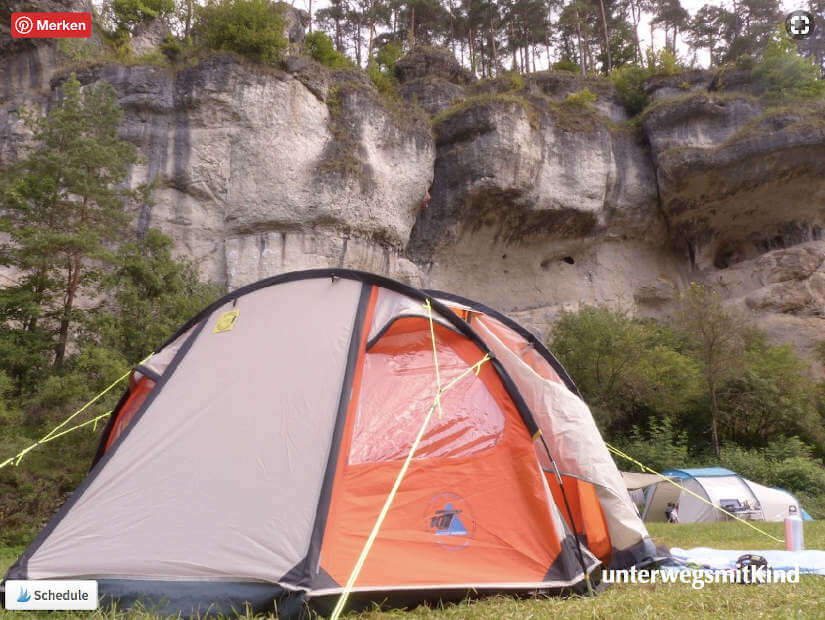 Zelt auf dem Campingplatz