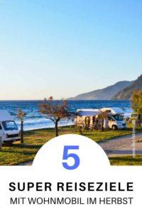 Reiseziele mit Wohnmobil im Herbst: Korsika, Sardinien, Andalusien, Nordengland