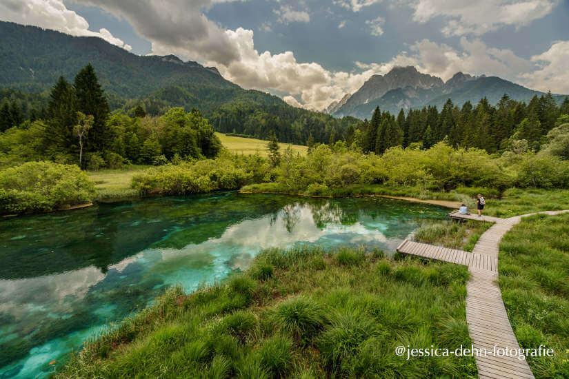 Mit dem Camper im Naturreservat in Slowenien