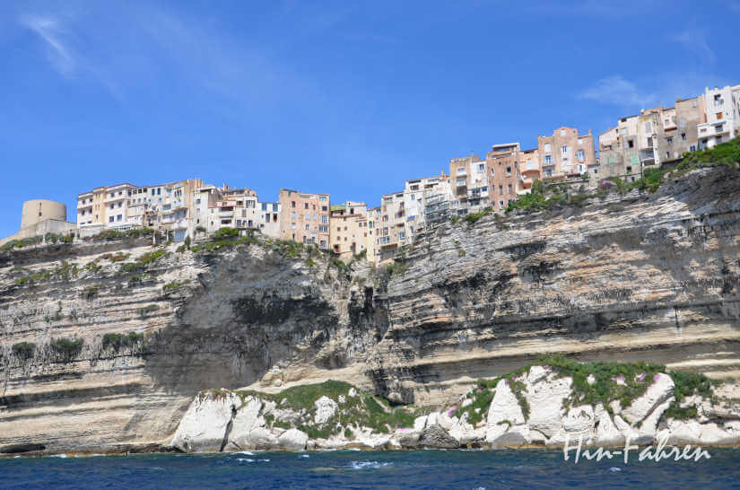 Bonifacio vom Meer aus gesehen