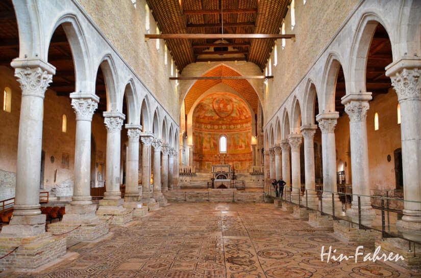 In der Basilika von Aqulieia im Friaul wurde ein alter Mosaikboden gefunden