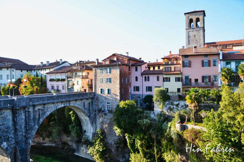Ponte del Diavolo in Cividale del Friuli in Italien