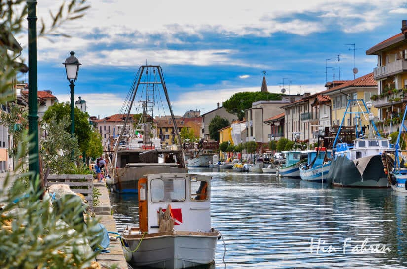 Kanal in Grado, Friaul, Italien