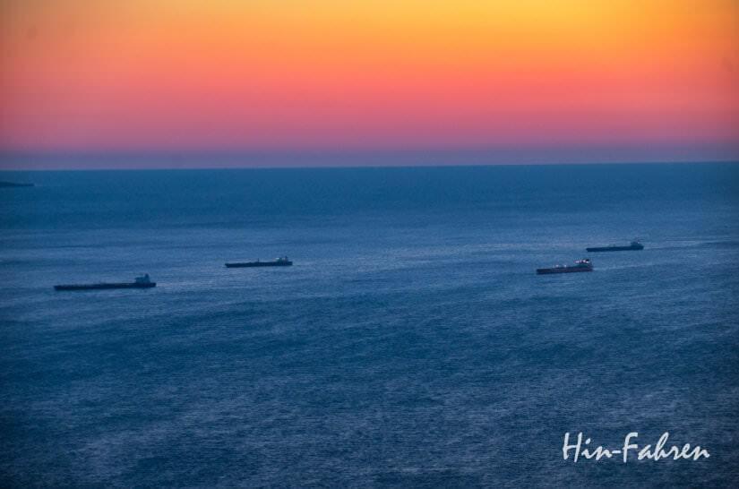 Sonnenuntergangsstimmung bei Triest