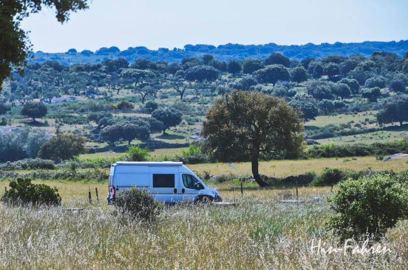 Vanlife unterwegs auf Wohnmobil-Reise in Portugal