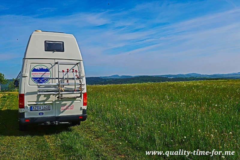 Mit dem Schwabenmobil Kastenwagen in der Eifel