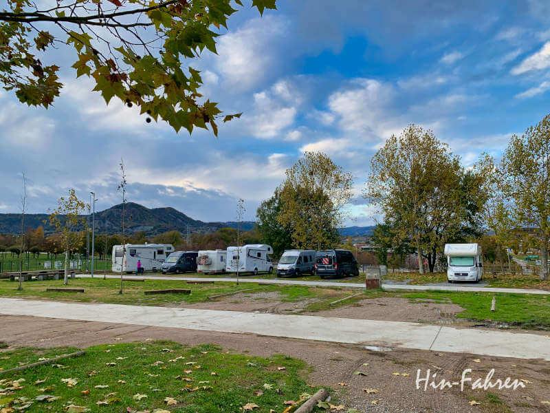 Wohnmobil-Stellplatz in Vic in Katalonien