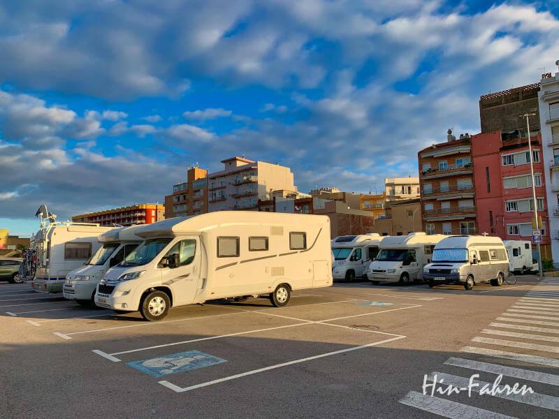 Wohnmobil-Stellplatz in Blanes