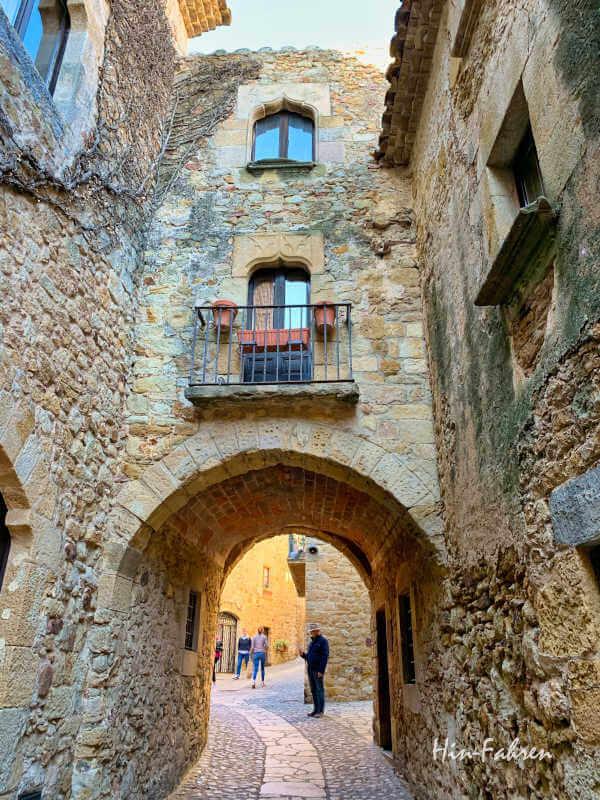 Besuch in Pals bei unserer Fahrt durch Katalonien mit Wohnmobil
