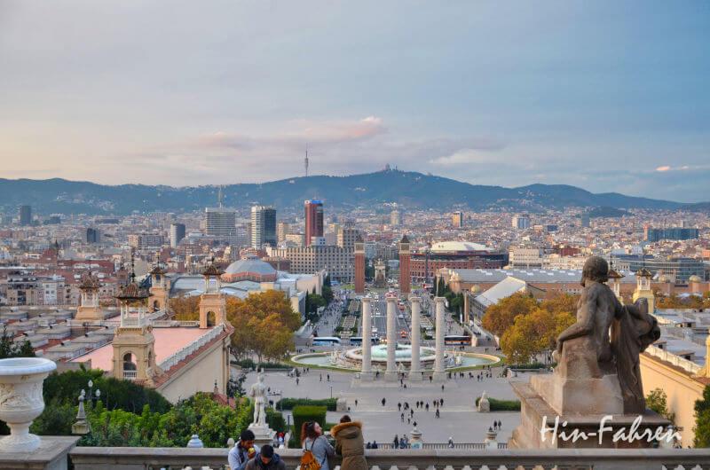 Blick auf Barcelona vom Montjuïc