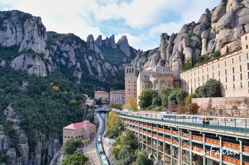 Kloster Montserrat in der Nähe von Barcelona