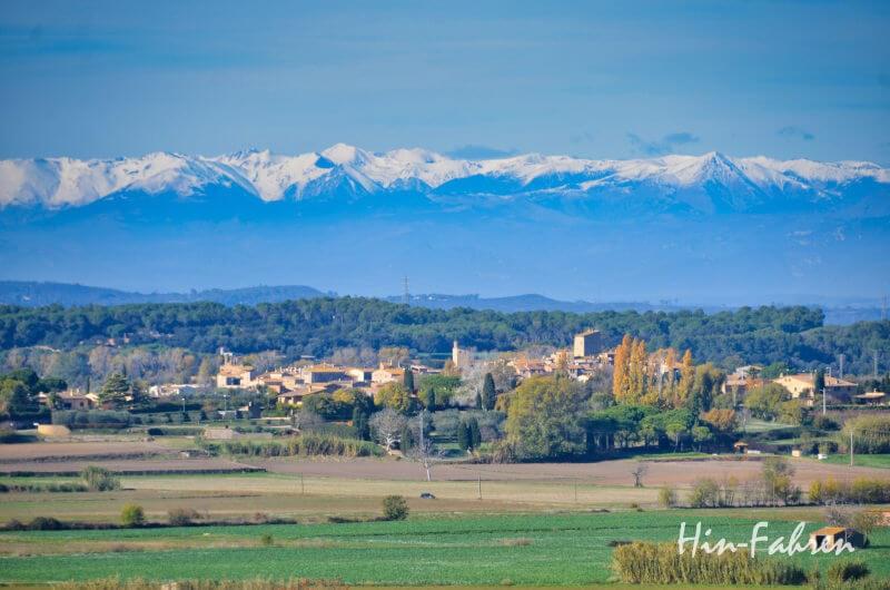Reiseroute Katalonien mit Wohnmobil - Blick auf die Pyrenäen