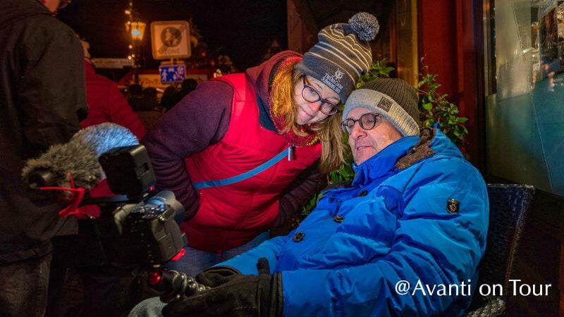 Die YouTuber Dirk und Sonja bei der Arbeit
