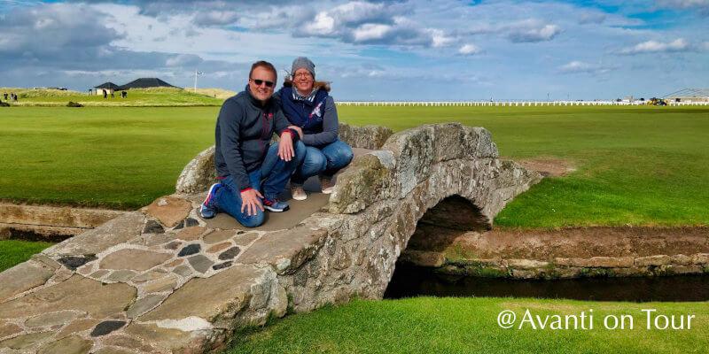 Dirk und Sonja auf dem Golfplatz