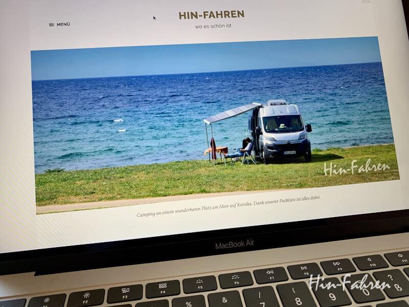 Alternative beim Corona Reisestopp - der eigene Wohnmobil-Blog