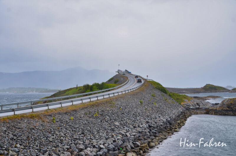 Unterwegs auf der Atlantikstraße in Norwegen
