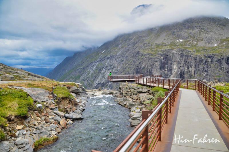 Aussichtspunkt am Trollstigen in Norwegen