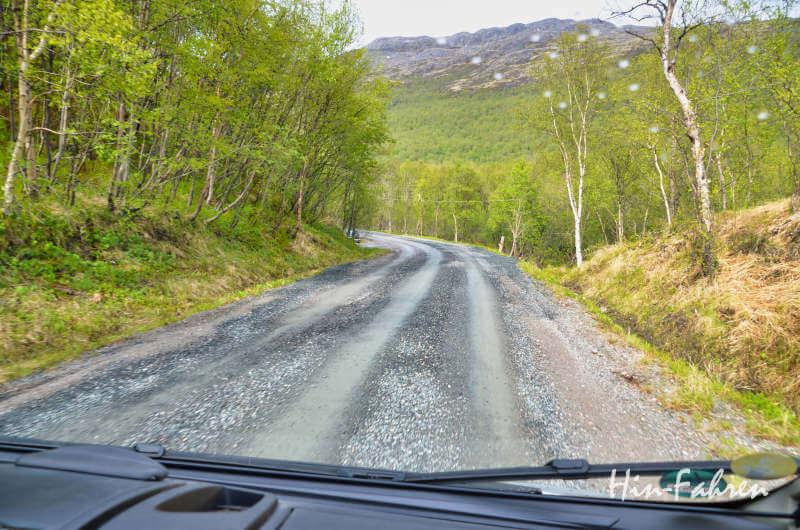 Piste an der russisch-norwegischen Grenze nach Grense Jakobselv
