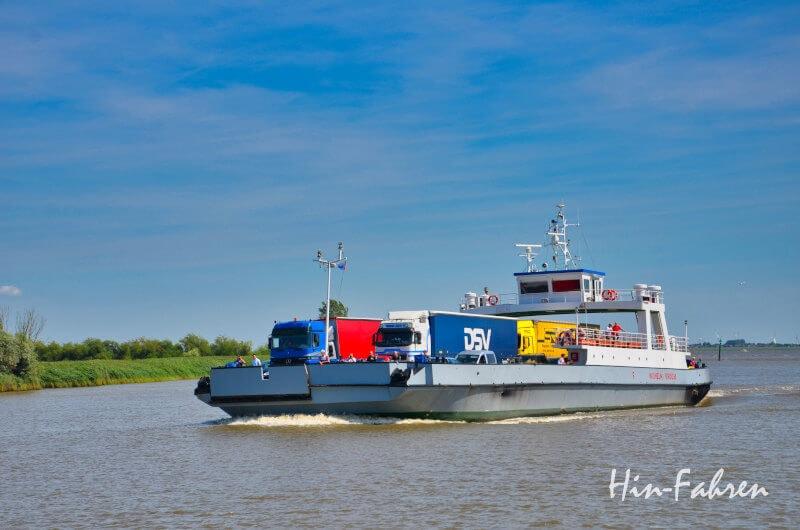 Traumstraßen Deutschland: Fähre über die Elbe