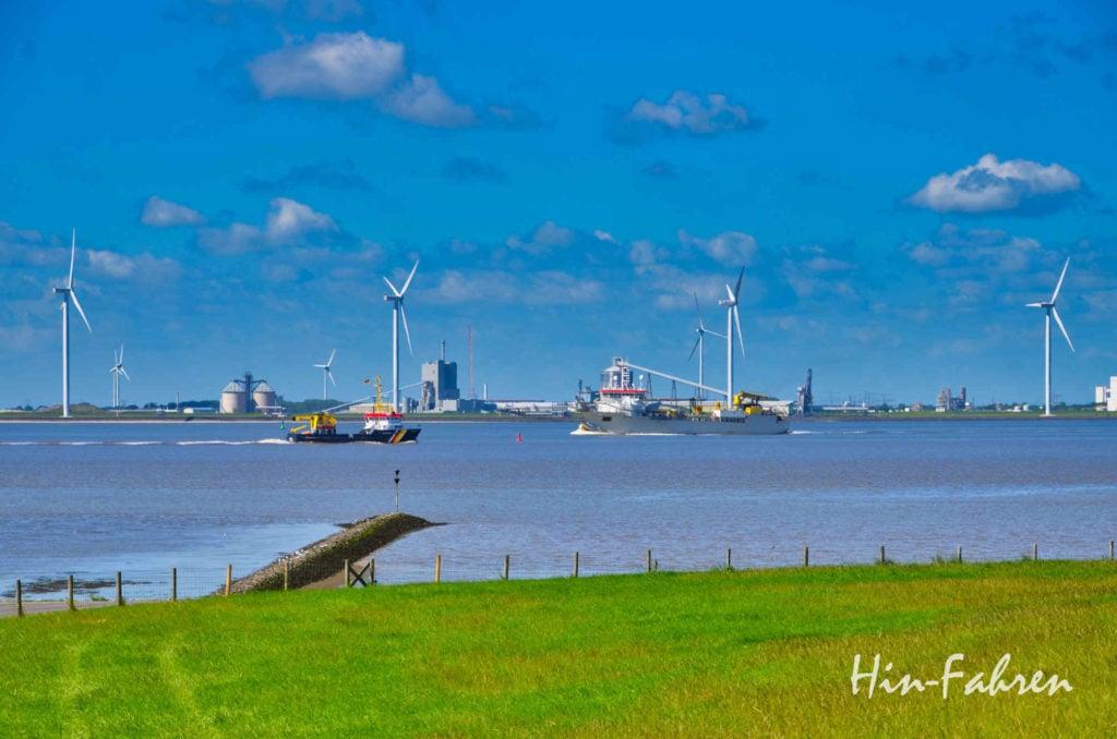 Blick auf Nordsee und Ems