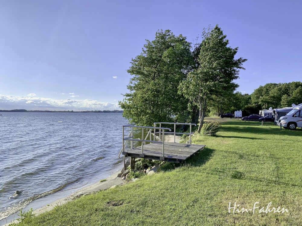 Direkt am See: Schöner Campingplatz Mecklenburgische Seenplatte