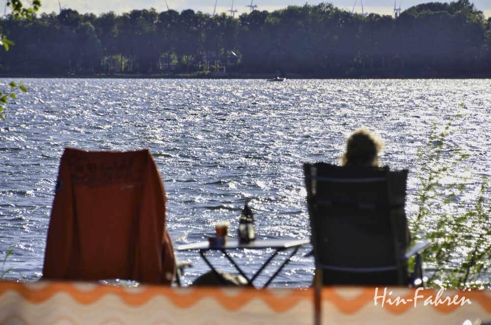 Mecklenburgische Seenplatte: Campingplatz am See
