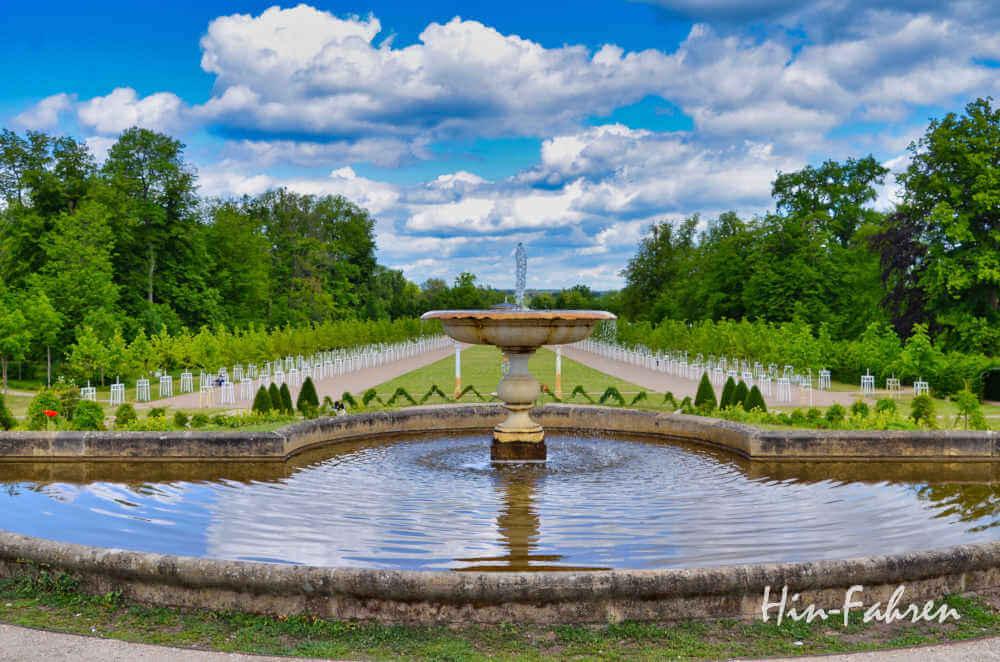 Blick auf den barocken Garten in Neustrelitz