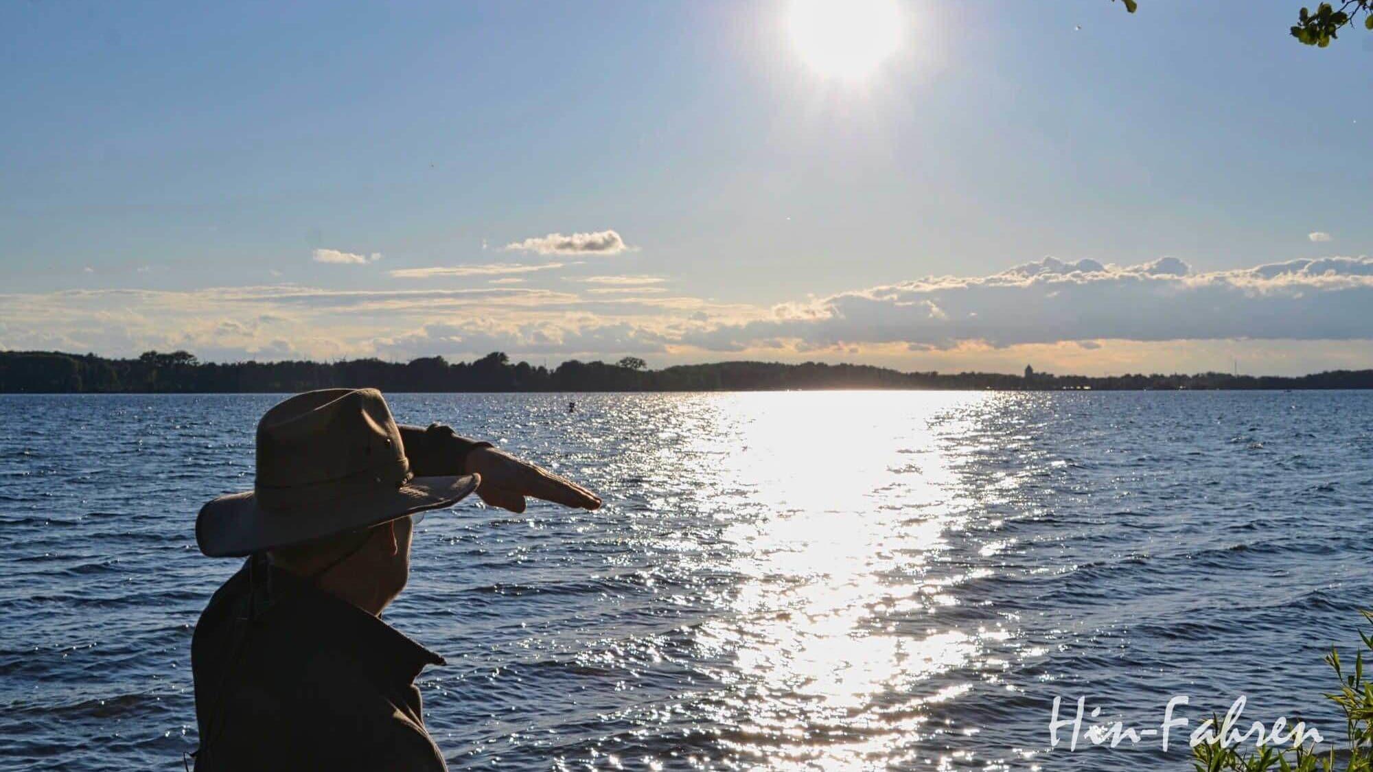 Blick auf den Plauer See vom Campingplatz