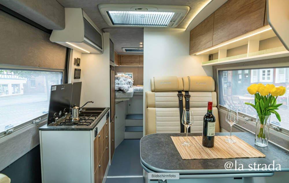 Der neue la strada Kastenwagen 2021 mit Einzelbetten