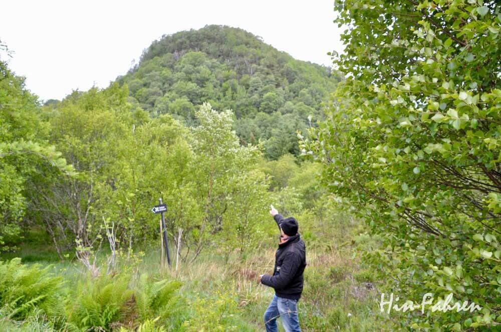Wanderung bei der Atlantikstraße in Norwegen: Aslaksteine