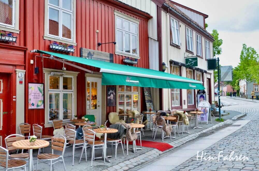 Nicht weit vom Wohnmobilplatz: Altstadt in Trondheim