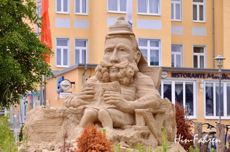 Sandskulptur auf Usedom