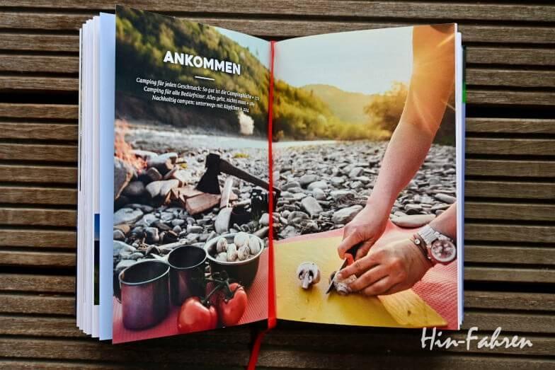 Blick ins Camping-Nachschlagewerk Die Campingbibel