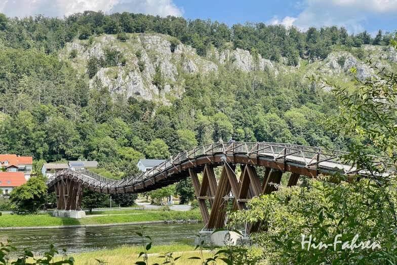 Bayern Wohnmobil-Tour: Holzbrücke Tatzlwurm im Altmühltal