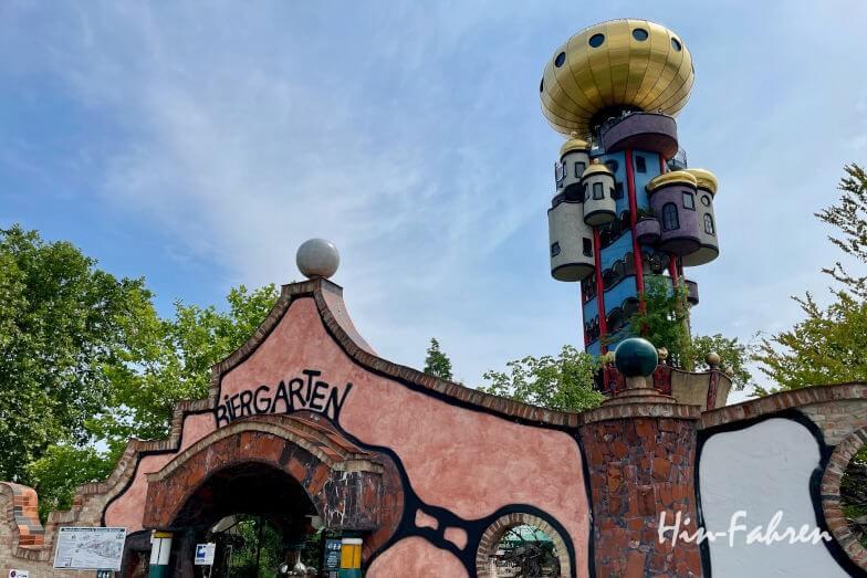 Wohnmobil-Tour Bayern: Biergarten und Hundertwasserturm in Abensberg