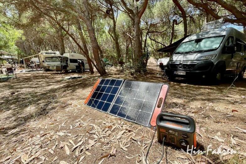 Wohnmobil und Powerstation Jackery Explorer 240 im Test